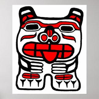 haida Bear Poster