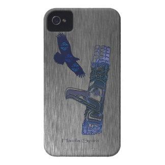 Haida Eagle & Totem Pole Native Art Case-Mate iPhone 4 Cases