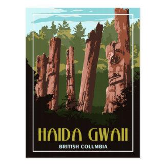 Haida Gwaii BC - Vintage Travel Postcard