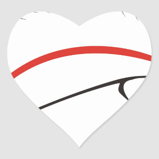 haida hog heart sticker