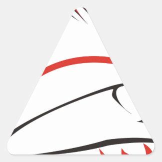 haida hog triangle sticker