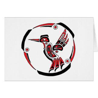 Haida Hummingbird Card