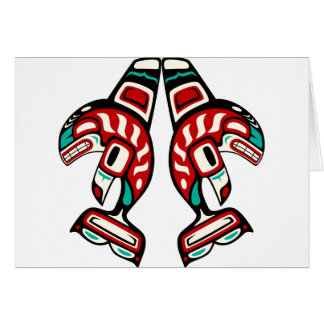 Haida Indian Killer Whale Card