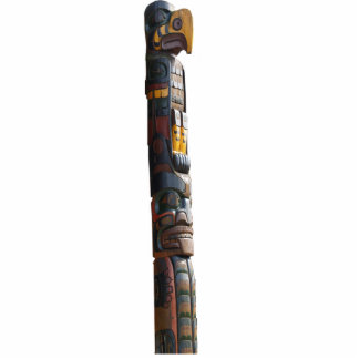 Haida Native American Totem Pole sculpted Gift Photo Sculpture Magnet