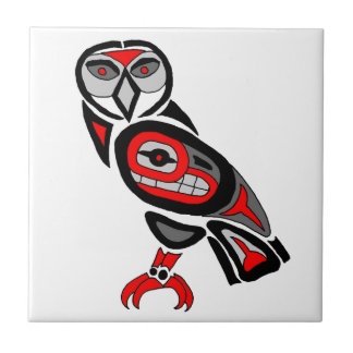 Haida Owl 2014 Ceramic Tiles