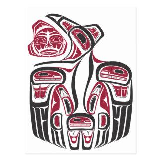 Haida Raven Design Postcard