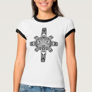 Haida Sun Mask, grey T-Shirt