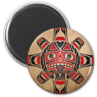 Haida Sun Mask Fridge Magnet
