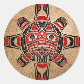 Haida Sun Mask Sticker