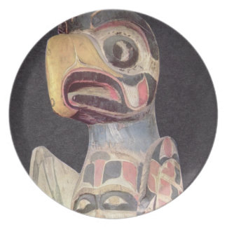 Haida 'Thunderbird' statue (painted wood) Plate