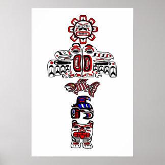 Haida Totem Poster