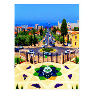 haifa Isreal Garden and beauty Postcard