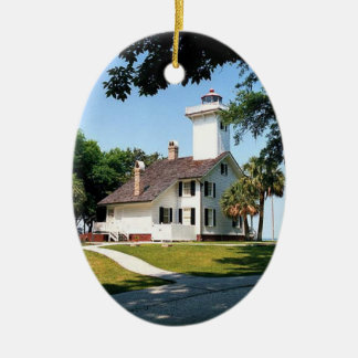 Haig Point Lighthouse Ceramic Ornament