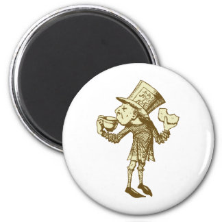 Haigha (Mad Hatter) Inked Sepia 2 Inch Round Magnet