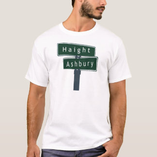 Haight Ashbury Classic Street Sign T-Shirt