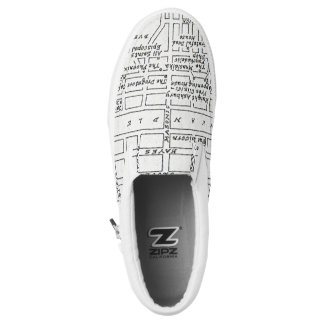 Haight Ashbury Map Slip-On Sneakers