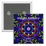 Haight Ashbury Psychedelic  Hippie Fashion Art Pin