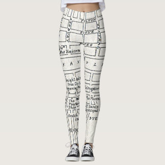 Haight Ashbury Street Map Leggings