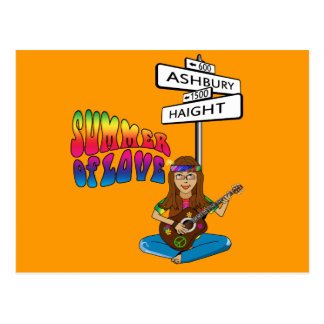 Haight Ashbury Summer of Love Postcard