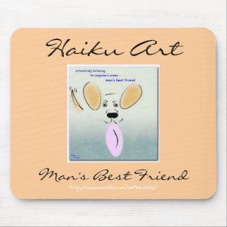 Haiku Art Man's Best Friend Mousepad