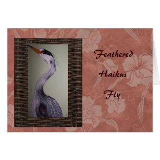 Haiku Cranes Card