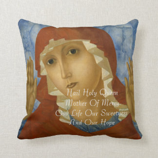 HAIL HOLY QUEEN MOTHER OR MERCY... THROW PILLOW