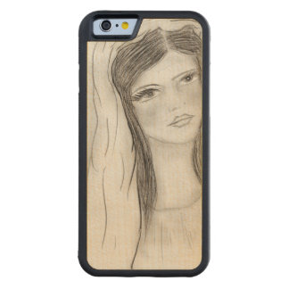 Hail Mary Carved Maple iPhone 6 Bumper Case
