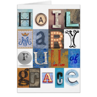 Hail Mary Letters Card