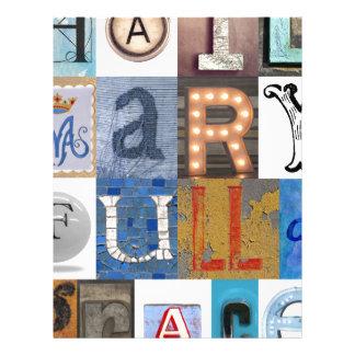Hail Mary Letters Letterhead Design