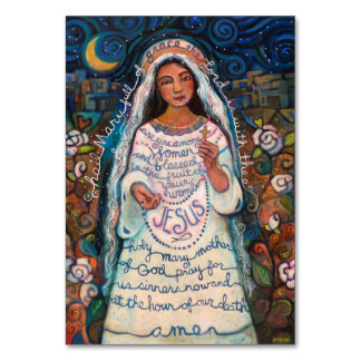 Hail Mary Prayer Card Table Card