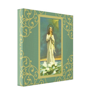 Hail Mary Star of the Sea Ave Maris Rosary Canvas Print