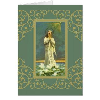 Hail Mary Star of the Sea Ave Maris Rosary Card