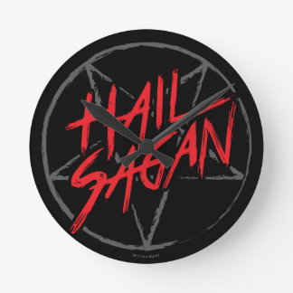 Hail Sagan Round Clock