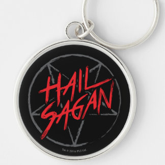 Hail Sagan Silver-Colored Round Keychain