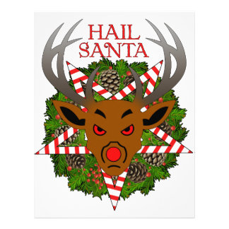 Hail Santa Letterhead Design