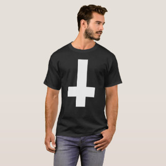 Hail Satan - CROSS 666 Cult - anti-Christian shirt