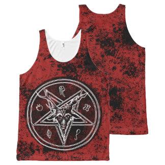 Hail Satan - Pentagram - Baphomet 666 tank Top
