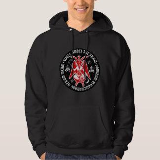 Hail Satan - Pentagram - CROSS 666 Hoodie