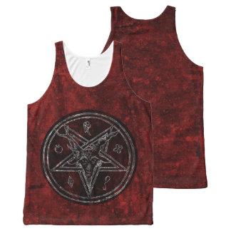 Hail Satan - Pentagram - SATA NIC 666 tank Top