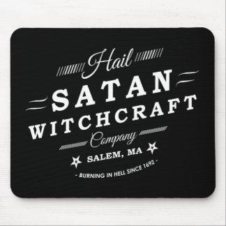 Hail Satan Witchcraft Co Salem MA Vintage Logo Mouse Pad