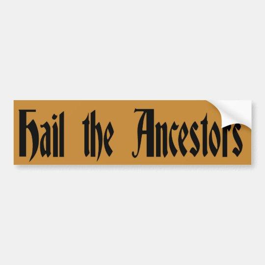 Hail the Ancestors Bumper Sticker