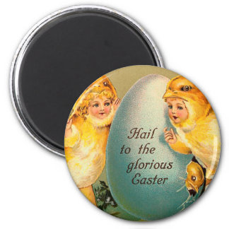 Hail To The Glorious Easter Vintage Magnet