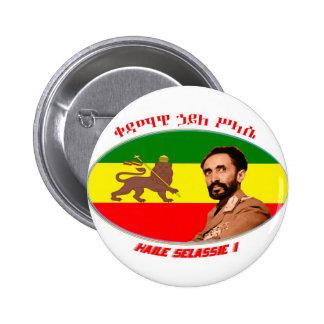 Haile Seilassie 2 Inch Round Button