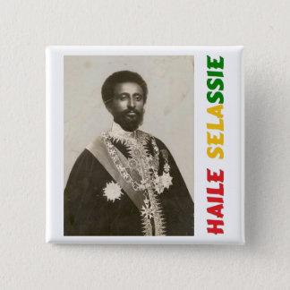 Haile Selassie Badge 2 Inch Square Button
