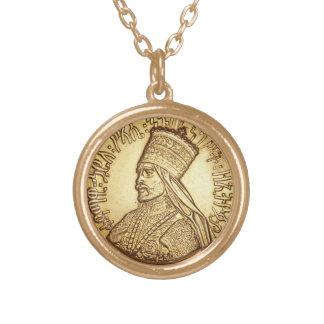 Haile Selassie Empire OF Ethiopia Rastafari chain Gold Plated Necklace