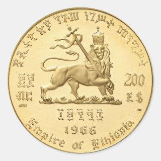 Haile Selassie Empire OF Ethiopia Rastafari Sticke Classic Round Sticker