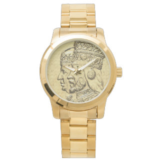Haile Selassie Empress Menen Rasta Lion of Judah Watch