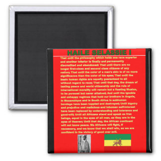 Haile Selassie Famous War Speech to UN 1963 Magnet