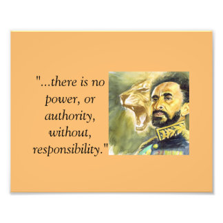 Haile Selassie I: Quotes: Essense of Power. Art Photo