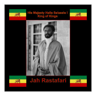 Haile Selassie Jah Rastafari Canvas Print 36x36